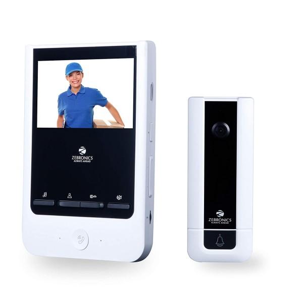 ZEBRONICS Video Door Phone with 4 inch Screen (ZEB-VD43WR)