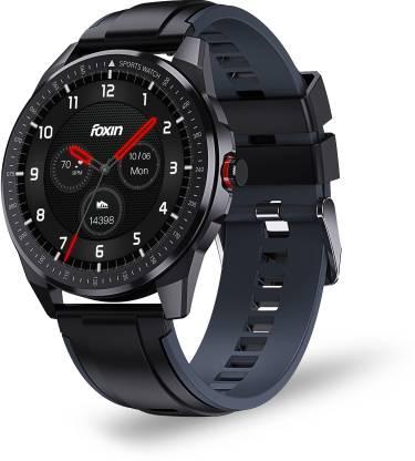 Foxin FOXFIT PULSE Smartwatch (Black Strap, Free Size)